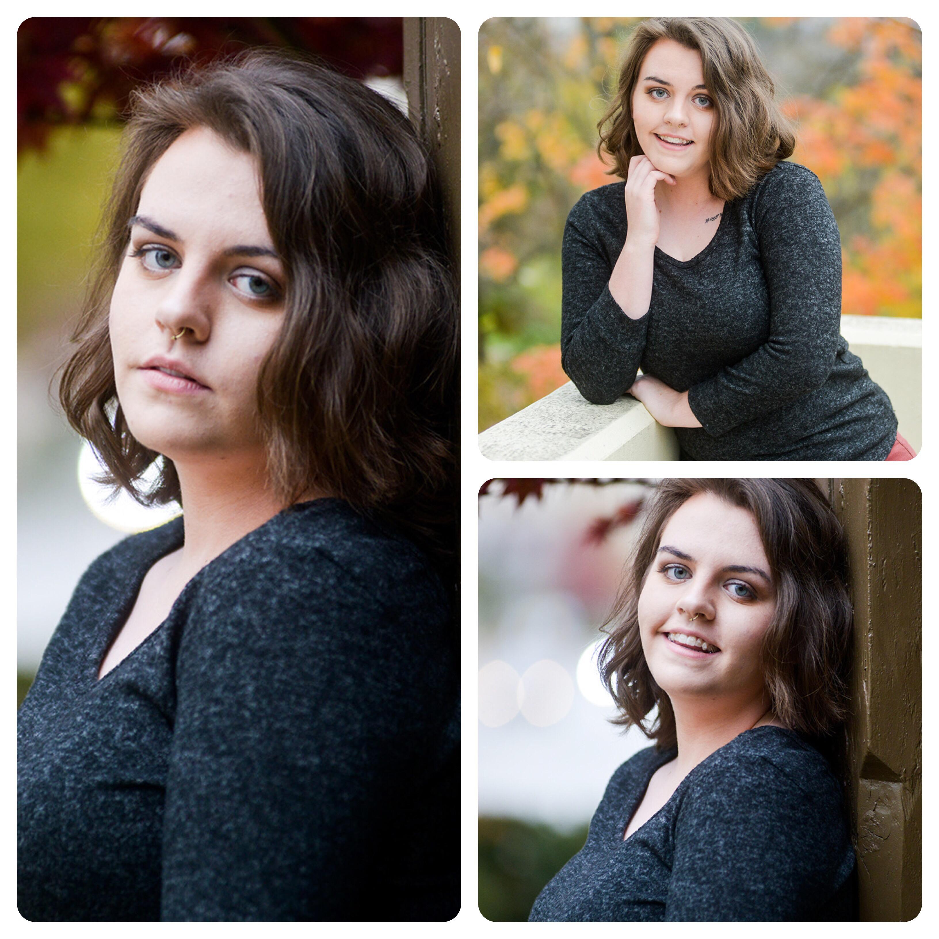 Lawrence Kansas senior girl portrait session